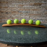 Tennis Ball Wine Barrel Display