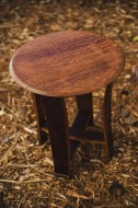 Barrel Top Accent Table