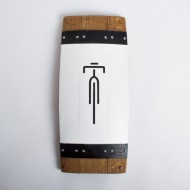 Bike Graphic Barrel Stave Art
