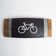 Graphic Bike Barrel Stave Art