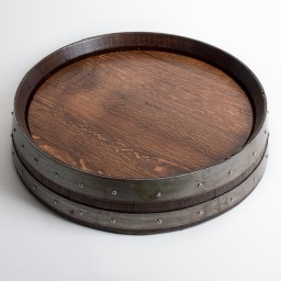 "Banded Lazy Susan, 24"", COOPERAGE, Red Mahogany"