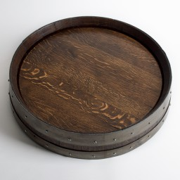 "Banded Lazy Susan, 24"", COOPERAGE, Dark Walnut"