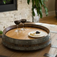 Banded Lazy Susan Natural
