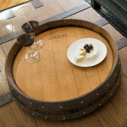 "Banded Lazy Susan, 24"", COOPERAGE, Natural"