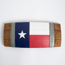 Banded Texas Barrel Stave Flag
