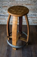 Barrel Head Counter Stool