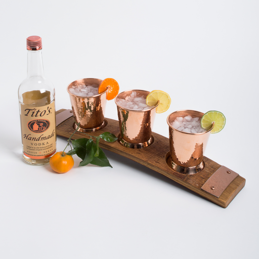 Barrel Stave Mule Flight with Copper Glasses