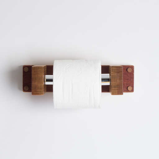 Classic Toilet Paper Holder, Natural Finish