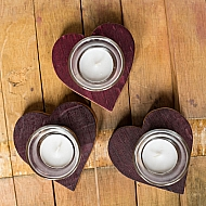 Wine Barrel Heart Votive