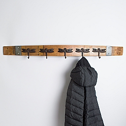 Large Banded Dragonfly Coat Rack, 5 Hooks