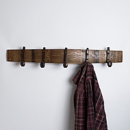 Large Coatrack with Bent Railroad Spike Hooks