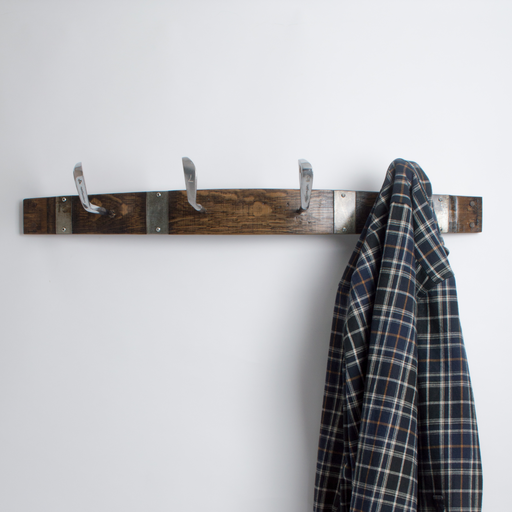 Large Golf Club Coat Rack with Bands, Choice of Finish
