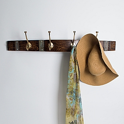 Large Moden Gold Coat Rack with Bands