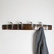 Large Pewter Hunting Dog Coatrack