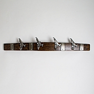 Large Pewter Trout Coatrack
