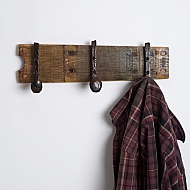Small Coatrack with Bent Railroad Spike Hooks