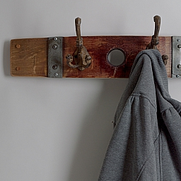 Small Double Cast Iron Coat Rack with Bunghole- LAST ONE!