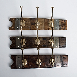 Small Modern Gold Coat Rack with Bands