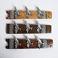 Small Pewter Trout Coat Rack
