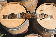 Banded Wine Barrel Cowboy Hat Coat Rack