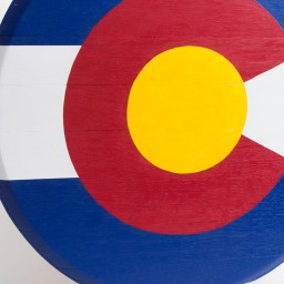 Colorado Barrel Head Flag Wall Decor
