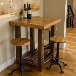 Wine Crate Bar Table