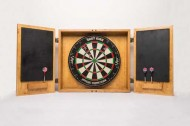 Wine Crate Dartboard Cabinet