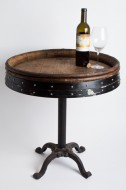 Deluxe End Table with Wrought Iron Base