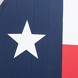 Art, Wine Barrel Wall Hanging, Painted Oak with Texas Flag
