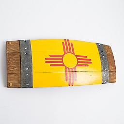 Banded Barrel Stave New Mexico Flag