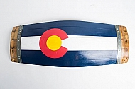 Large Colorado Barrel Stave Flag