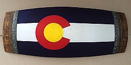 Large Banded Colorado Barrel Stave Flag