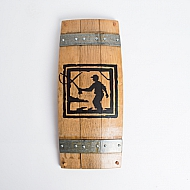 Fisherman Wine Barrel Wall Art