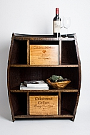 Half Barrel Cabinet with Drawers
