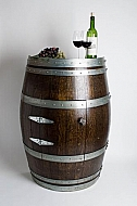 Half Wine Barrel Cabinet with Door