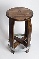 Stained Crate Top Barrel Counterstool