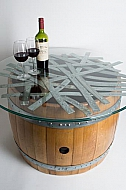 Barrel and Band Coffee Table