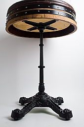 Deluxe Cafe Table with Wrought Iron Base
