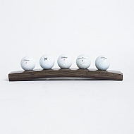 Dark Walnut 5 Golf Ball Display