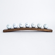 Dark Walnut 7 Golf Ball Display