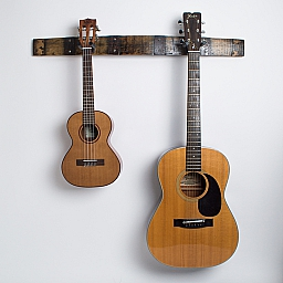 Double Bourbon Barrel Guitar Rack, Natural Finish