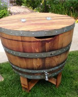 half barrel ice chest alpine wine design outdoor