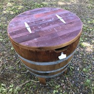 Half Barrel Ice Chest with Opener