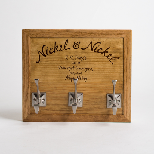 Keyhook, NICKEL & NICKEL, Golden Oak, Square Nickel Hooks