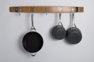 Black Banded Barrel Stave Pot Rack