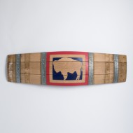 Large Wyoming Barrel Stave Flag