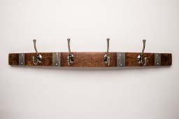 Large Classic Brass Coat Rack with Bands