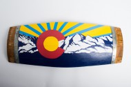 Large Deluxe Colorado Barrel Stave Flag
