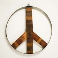 Napa Valley Wine Barrel Peace Sign