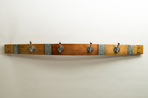 Large Round Nickel Coat Rack with Bands